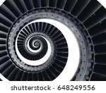 isolated turbine blades wings... | Shutterstock . vector #648249556