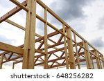 New Construction Of A Wooden...