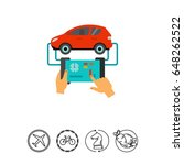 car diagnostic icon   Shutterstock .eps vector #648262522