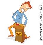 enthusiast quiz participant | Shutterstock .eps vector #648272632