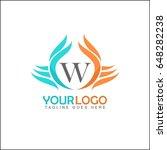 w letter logo. monogram design... | Shutterstock .eps vector #648282238