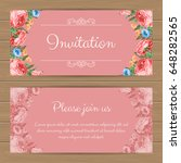 floral invitation or greeting... | Shutterstock .eps vector #648282565