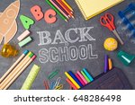back to school background with... | Shutterstock . vector #648286498
