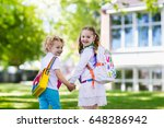 children go back to school.... | Shutterstock . vector #648286942