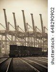 seattle  wa   aug 14  crane... | Shutterstock . vector #648290902