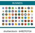business icons set. vector... | Shutterstock .eps vector #648291916