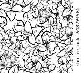 abstract elegance seamless... | Shutterstock . vector #648294985
