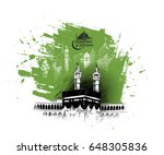 holy kaaba in mecca saudi... | Shutterstock .eps vector #648305836