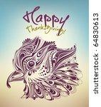 thanksgiving turkey creative... | Shutterstock .eps vector #64830613