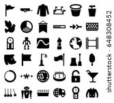 collection icons set. set of 36 ... | Shutterstock .eps vector #648308452