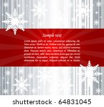 abstract christmas background | Shutterstock .eps vector #64831045