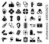 treatment icons set. set of 36...   Shutterstock .eps vector #648310672