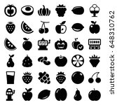 fruit icons set. set of 36... | Shutterstock .eps vector #648310762