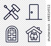 inside icons set. set of 4... | Shutterstock .eps vector #648314512