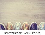 fashion shoes and sneaker on... | Shutterstock . vector #648319705