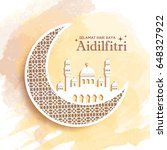 hari raya aidilfitri greeting...   Shutterstock .eps vector #648327922