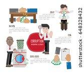 corruption infographics elements | Shutterstock .eps vector #648328432