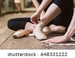 young ballerina or dancer girl... | Shutterstock . vector #648331222