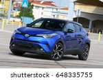 istanbul   may  new toyota c hr ... | Shutterstock . vector #648335755