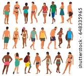 beach people vector illustration | Shutterstock .eps vector #648335965