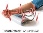 ecg cardiogram heartbeat and... | Shutterstock . vector #648341062