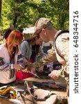 kiev.  ukraine. ethnofestival ... | Shutterstock . vector #648344716