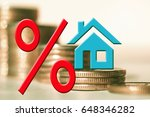 the percent symbol and real... | Shutterstock . vector #648346282