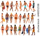 beach people vector illustration | Shutterstock .eps vector #648351538