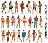 beach people vector illustration | Shutterstock .eps vector #648351565
