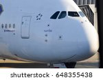 the aircraft of the airline... | Shutterstock . vector #648355438
