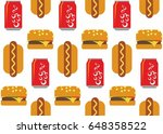 fast food tile background | Shutterstock .eps vector #648358522