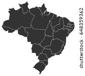 detailed map of brazil in high... | Shutterstock .eps vector #648359362