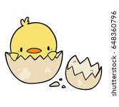 cute cartoon chick hatching... | Shutterstock .eps vector #648360796