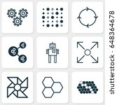artificial intelligence icons... | Shutterstock .eps vector #648364678