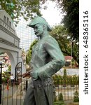 Small photo of KUALA LUMPUR, MALAYSIA -SEPTEMBER 8, 2016: Bronze statue of Sir Frank Athelstane Swettenham located at the National Museum of Malaysia.