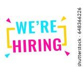 we' re hiring. badge icon. flat ... | Shutterstock .eps vector #648366226
