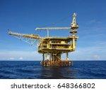 offshore construction platform... | Shutterstock . vector #648366802