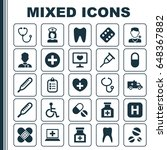antibiotic icons set.... | Shutterstock .eps vector #648367882