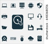 notebook icons set. collection... | Shutterstock .eps vector #648368056