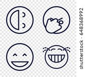 laughing icons set. set of 4... | Shutterstock .eps vector #648368992
