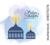 hari raya aidilfitri greeting... | Shutterstock .eps vector #648370276