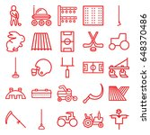 field icons set. set of 25... | Shutterstock .eps vector #648370486
