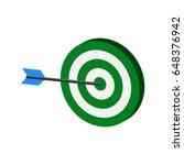 arrow hitting target symbol....