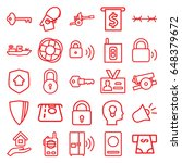security icons set. set of 25...   Shutterstock .eps vector #648379672