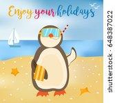 bright enjoy your summer poster ... | Shutterstock .eps vector #648387022