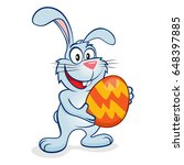 cute and happy easter bunny... | Shutterstock . vector #648397885