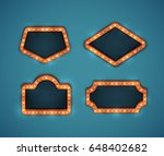 retro american marquee signs... | Shutterstock .eps vector #648402682