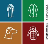 coat icons set. set of 4 coat... | Shutterstock .eps vector #648403066