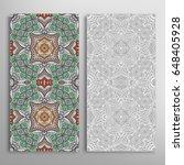 vertical seamless patterns set  ... | Shutterstock .eps vector #648405928