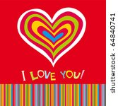 valentine's day card | Shutterstock .eps vector #64840741